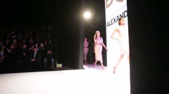 Models walk the runway for Alexandr Rogov BGN style collection Stock Footage