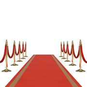 Stock Illustration of Red carpet with red ropes
