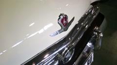 "GAZ-21 retro car presented at ""Oldtimer gallery"" - stock footage"