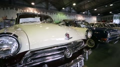 "GAZ-21 retro car presented at ""Oldtimer gallery"" Stock Footage"