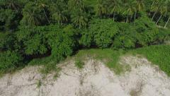 Aerial View of Secluded Beach in Ilha Grande, Rio de Janeiro, Brazil Stock Footage