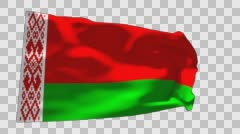 Flag of Belarus Stock Footage