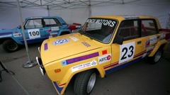 """Racing bolide Lada VFTS presented at """"Oldtimer gallery"""" Stock Footage"""