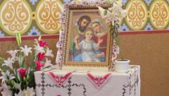 Image the Holy Family Stock Footage