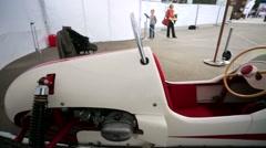 "racing bolide ""Estonia-3"" presented at ""Oldtimer gallery"" - stock footage"