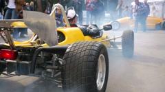 "racer prepares to ride ""Estonia-15M"" - stock footage"