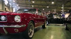 """Ford Mustang presented at """"Oldtimer gallery"""" Stock Footage"""