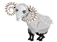 Cartoon Ram Stock Illustration