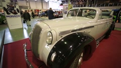 """Legendary Opel Admiral cabriolet presented at """"Oldtimer gallery"""" - stock footage"""