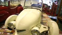 """Reyonnah car presented at """"Oldtimer gallery"""" cars exhibition. Stock Footage"""