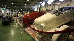 "Reyonnah car presented at ""Oldtimer gallery"" cars exhibition. Stock Footage"