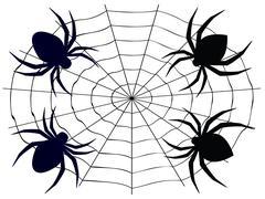 Cartoon Spider - stock illustration