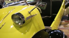 "Messerschmitt FMR Tg500 presented at ""Oldtimer gallery"" Stock Footage"