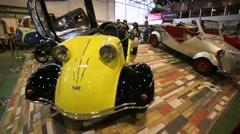 "Messerschmitt FMR Tg500 presented at ""Oldtimer gallery"" - stock footage"