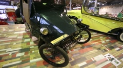 """Mochet Type """"K"""" retro car presented at """"Oldtimer gallery"""" - stock footage"""