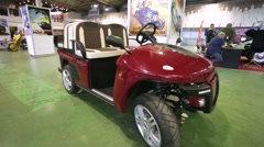"Russian electric car GERDAKAR presented at ""Oldtimer gallery"" Stock Footage"