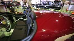 "The GAZ-M20 ""Pobeda-Sport"" retro sports car Stock Footage"