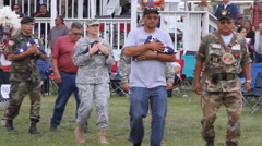 Honoring Native Veterans KIA at Pow wow Stock Footage