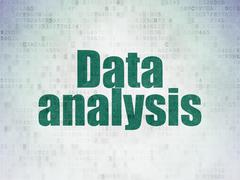 Stock Illustration of Information concept: Data Analysis on Digital Paper background