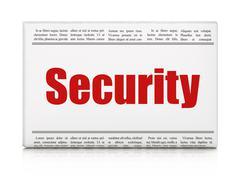 Privacy concept: newspaper headline Security Stock Illustration
