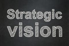 Business concept: Strategic Vision on chalkboard background - stock illustration
