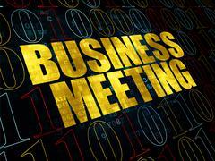 Finance concept: Business Meeting on Digital background - stock illustration