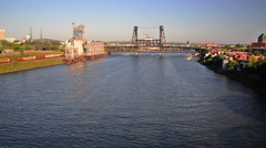 Willamette River View Stock Footage