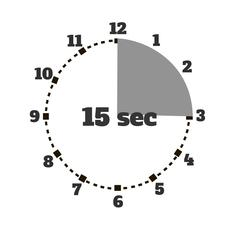 Set of Time Second Stopwatch Design Flat Stock Illustration
