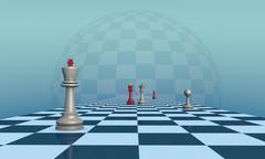 Lonely King (chess metaphor) Stock Illustration