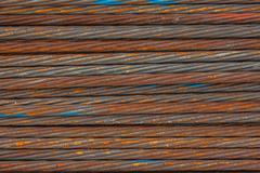 Stack of the metal rusty or steel rod Stock Photos