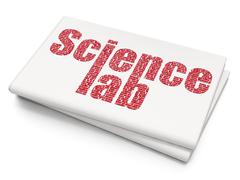 Science concept: Science Lab on Blank Newspaper background Stock Illustration