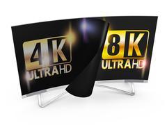 8K Ultra HD - stock illustration