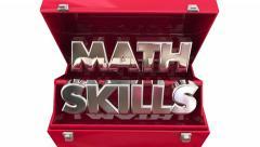 Math Skills Toolbox Words Learn Education Tutor 3d - stock footage