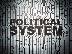 Politics concept: circuit board with Political System Stock Illustration