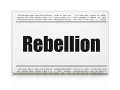 Political concept: newspaper headline Rebellion Stock Illustration