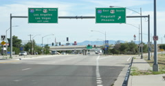 I-40 Sign East West in Arizona Stock Footage