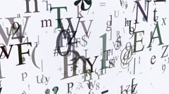 Variables letters and symbols on white Stock Footage