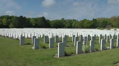 WW1 cemetry war graves - stock footage