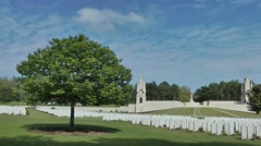 WW1 world war one cemetry monument graves - stock footage