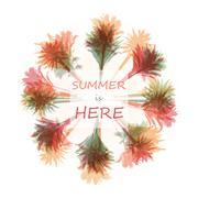 Palm tree print Stock Illustration
