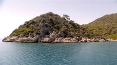 Vacation island scenery Stock Footage