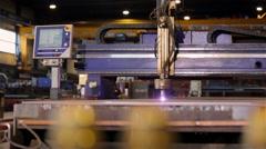 Plasma cutter machine Stock Footage