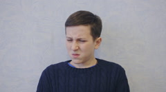 Boy is very upset Stock Footage