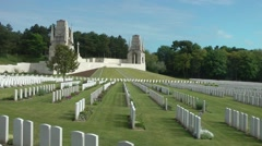 WW1 world war one cemetry monument war graves - stock footage