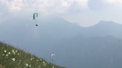 Two gliders flying Stock Footage
