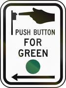 United States MUTCD road sign - Crosswalk instructions Stock Illustration