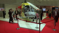 Helicopter ambulance and its equipment. Stock Footage
