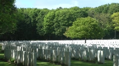 WW1 world war one cemetry war graves - stock footage