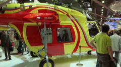 Helicopter ambulance and its equipment. - stock footage
