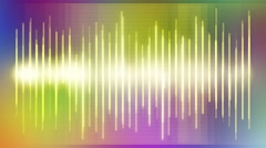 Waveform Spectrum Sound Rainbow  Stock Footage